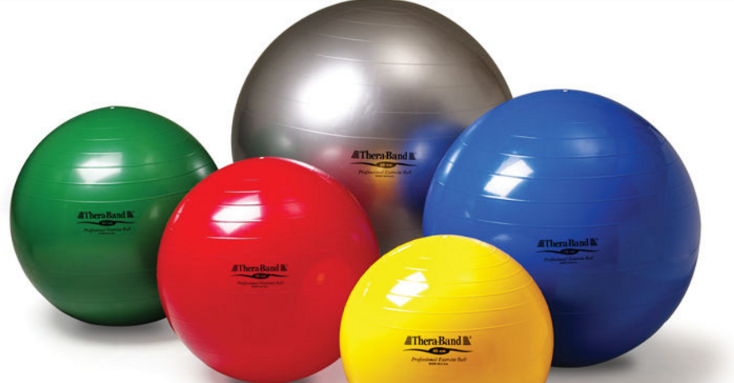 Theraband Exercise Balls, 5 Colors and Sizes